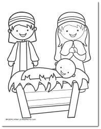 Free Nativity Coloring Page Kerst Plein Kerstmis Kerst