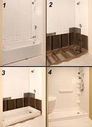 bathroom tub to shower conversion cost bath enclosure with converting design