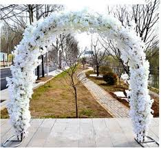 2019 wedding arch pergola garden metal backdrop stand for marriage diy party decoration centerpieces road cited flowers rows 2 4x2 4m from meihon