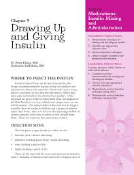 Drawing Up And Giving Insulin