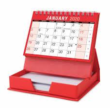 Desktop Calendar With Memo Pad 2020
