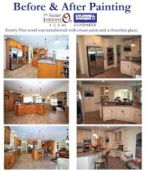 it is amazing how much of a transformation paint can bring to a home one of our er s decided to paint their knotty pine cabinets with a cream paint and