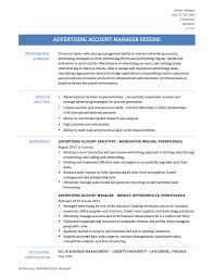 Advertising Representative Sample Resume Advertising Sales