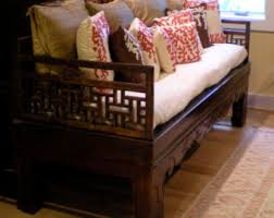 original quality asian chinese antique 1800s elm wood carved daybed or coffee table from qing dynasty for your living room bedroom design asian inspired coffee table