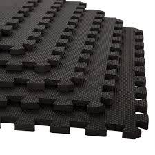 stalwart 6 pack interlocking eva foam floor mats black 24x24x0 50