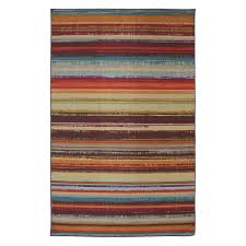mohawk home avenue stripe indoor outdoor nylon rug multi colored com
