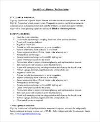 Duties Of An Event Planner Sample Event Planner Job Description 8 Examples In Pdf Word