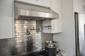 Metal Kitchen Backsplash Great Home Decor Elegant Style