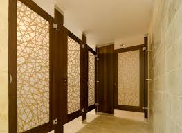 Ironwood Manufacturing toilet partitions with custom laminate