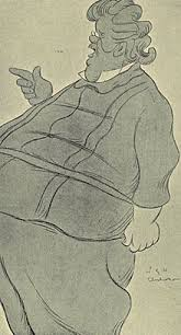 g k chesterton  caricature of chesterton by max beerbohm