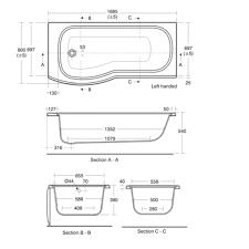 standard bathtub size uk ideas