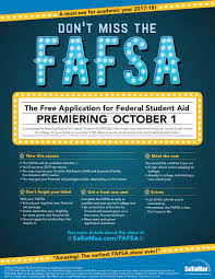 Tips For Completing Application Forms Reminder The Free Application For Federal Student Aid Fafsa Will