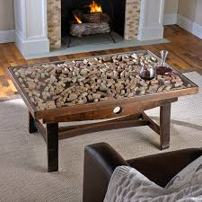 ... Coffee Table, Amazing Brown Rectangle Traditional Wood Display Coffee  Table With Glass Top And Drawer ...