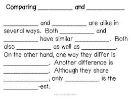 best compare contrast writing images compare compare and contrast text frame graphic organizer