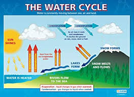 Science Chart Project The Water Cycle Science Educational Wall Chart Poster In