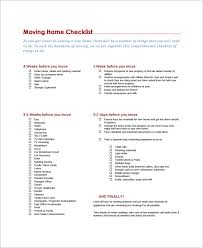 Moving Checklist Template Adorable 48 Moving Checklist Templates Sample Templates