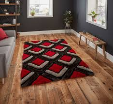 noble house nh8199 black red rug by think rugs