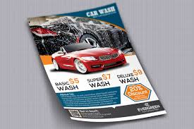 Car Wash Flyer Template Car Wash Flyer Flyer Templates Creative Market 3