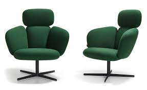 Bras Highback Swivel Base Lounge Chair - hivemodern.com