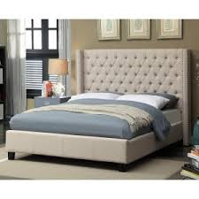 tufted bed. Meridian Ashton Wingback Upholstered Bed Tufted