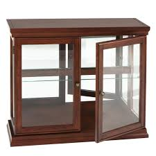 small wooden brown glass door display cabinets