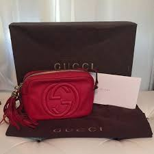 gucci bags red. gucci soho red disco bag * sold bags e