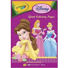 The 12.75 x 19.5 book holds 18 giant coloring pages. Crayola Disney Princess Giant Coloring Book 2 89 Liked On Polyvore Featuring Toys Coloring Pages Coloring Books Crayola