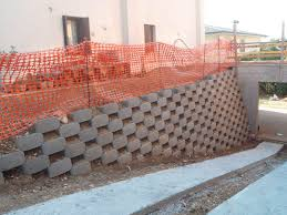 solid concrete block for retaining walls