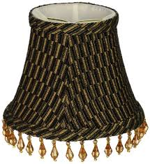royal designs beaded black gold brown beaded bell chandelier lamp shade