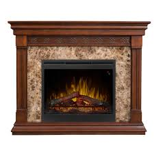 alcott 51 freestanding electric fireplace in mocha
