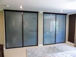 java frame white laminated glass top hung closet doors in tustin california