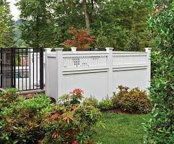 vinyl fence with metal gate. Aluminum And AZEK Pool Fence Vinyl With Metal Gate