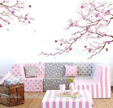 wall decal cherry blossom tree decorating tree wall decals design  inspiration home cherry blossom tree removable .
