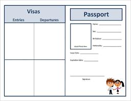 Free Passport Template For Kids Passport Template 100 Free Word PDF PSD Illustrator Format 12