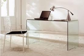 modern glass office desk. Modern Bent Glass Office Desk CR09