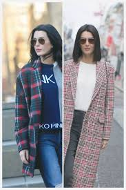 2 ways to wear a tartan check plaid winter coat