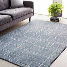 surya contempo rectangular pale blue denim medium gray area rug cpo 3723