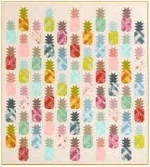 Pineapple Quilt Pattern Impressive Pineapple Farm Designer Pattern Robert Kaufman Fabric Company