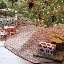 mini chevron tree skirt seasonal pinterest skirts inside crate and barrel decorations 1 crate and barrel christmas tree skirt i90