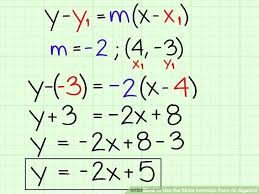 converting a linear equation from general to slope intercept form math solver solve formula