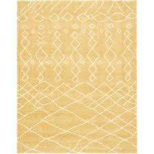 rabat geometric yellow 9 0 x 12 0 area rug