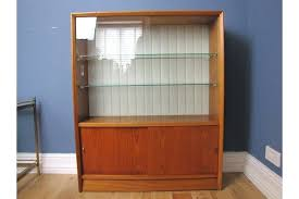 mid century teak herbert gibbs display cabinet bookcase sliding bookcases with sliding glass doors solid wood