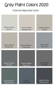 gray paint colors for 2020 interiors