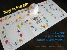 This activity pack is loaded with engaging activities for kids and includes 19 pages of printables. Relentlessly Fun Deceptively Educational Bugs On Parade Printable Game To Practice Color Words