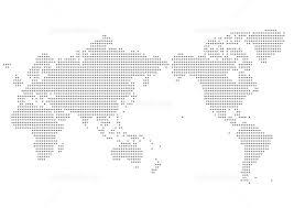 世界地図 メルカトル図法の白地図 イラスト素材 5600005 フォト