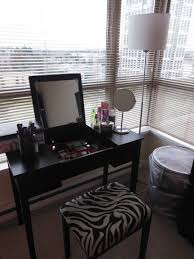 black makeup vanity with drawers. small black makeup vanity table storage set with lighting and zebra upholstered chair drawers