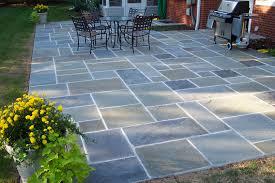 blue stone patio diy design and ideas