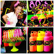 neon 80 s skate themed birthday party via kara s party ideas karaspartyideas com decor cake