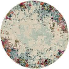 4 x 4 spectrum round rug