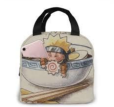 napravi.rs école Naruto Ramen Sac à déjeuner isotherme portable avec  fermeture éclair étanche réutilisable pour pique-nique sac à déjeuner avec  poche avant voyage Sacs-repas Transport de nourriture